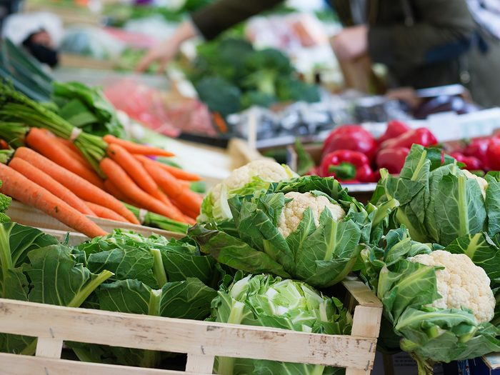 High cholesterol, A variety of vegetables at a farmers' market
