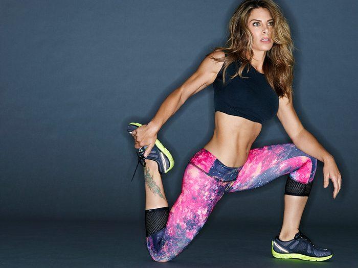 Jillian Michaels stretching
