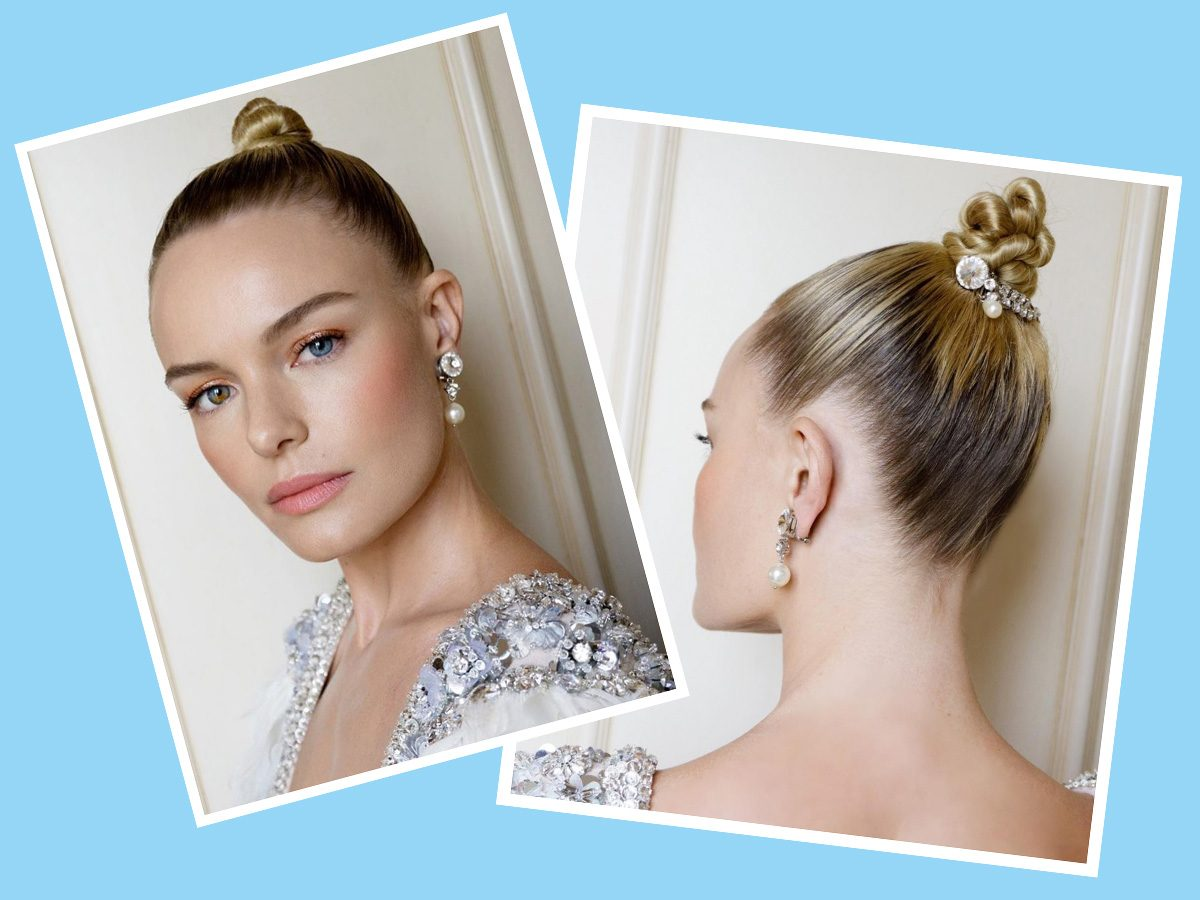 Kate Bosworth with diamonds in her bun