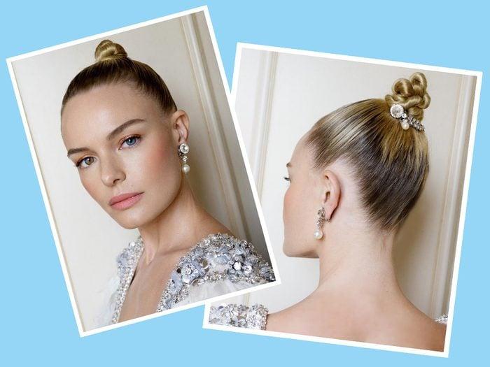 Kate Bosworth with diamonds in her bun