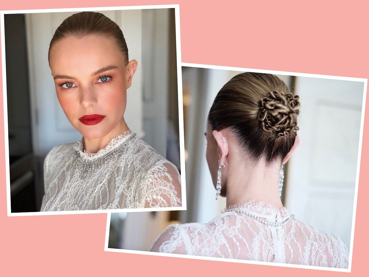 Kate Bosworth with a twisty bun