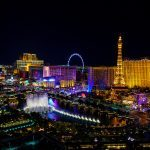 Las Vegas strip, the skyline