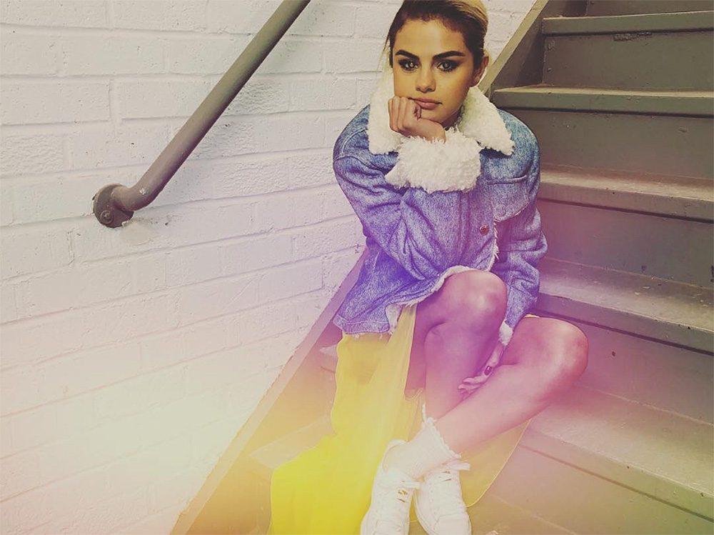 Mental health, Selena Gomez sitting on stairs