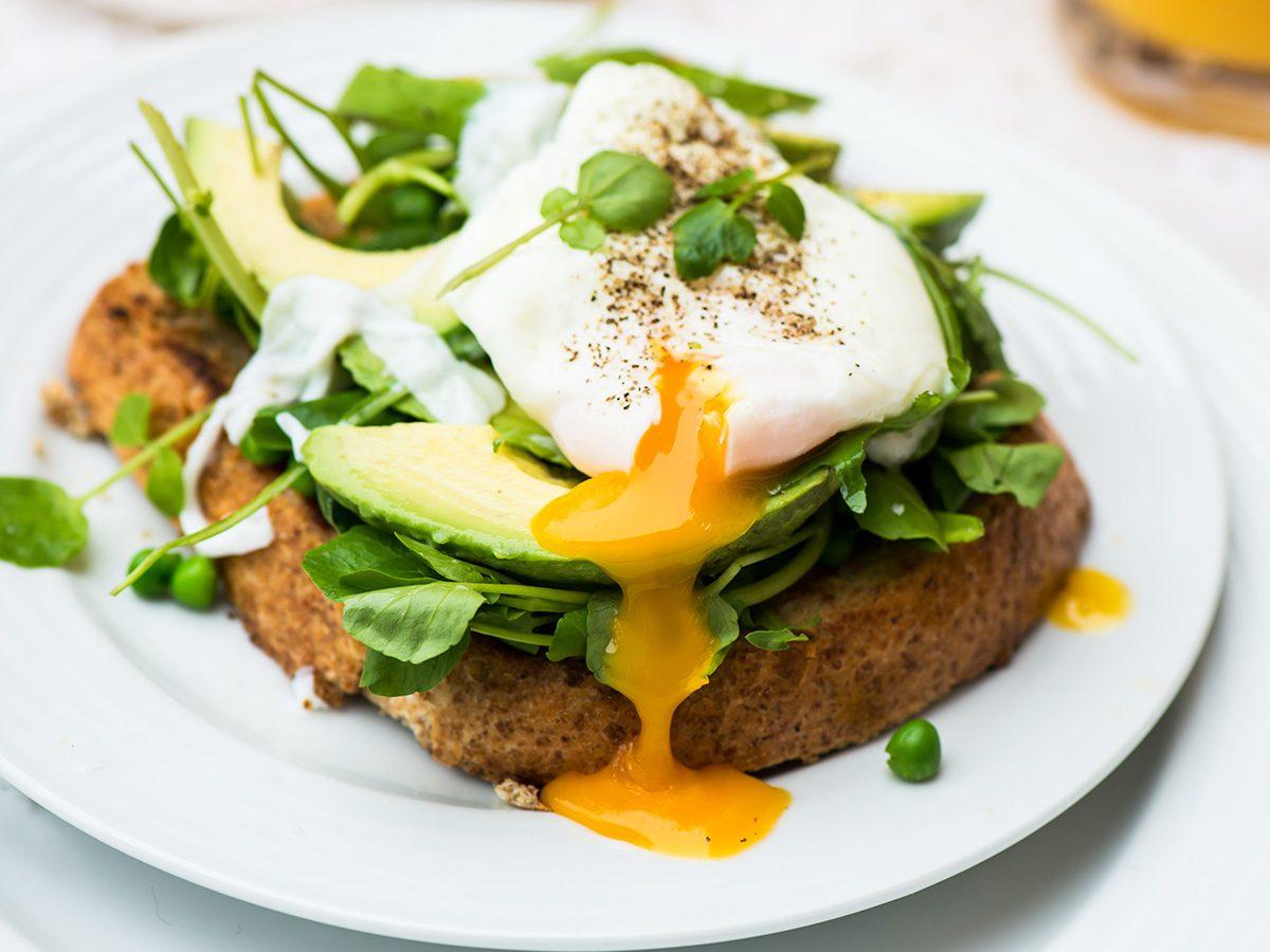 Rainy mood, egg and toast breakfast