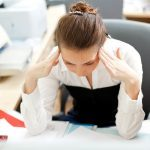 Stress Stressed Woman a Desk