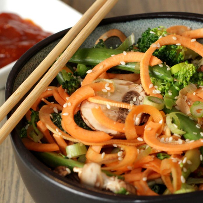 An Utterly Delish Sweet Potato Noodle Stir-Fry