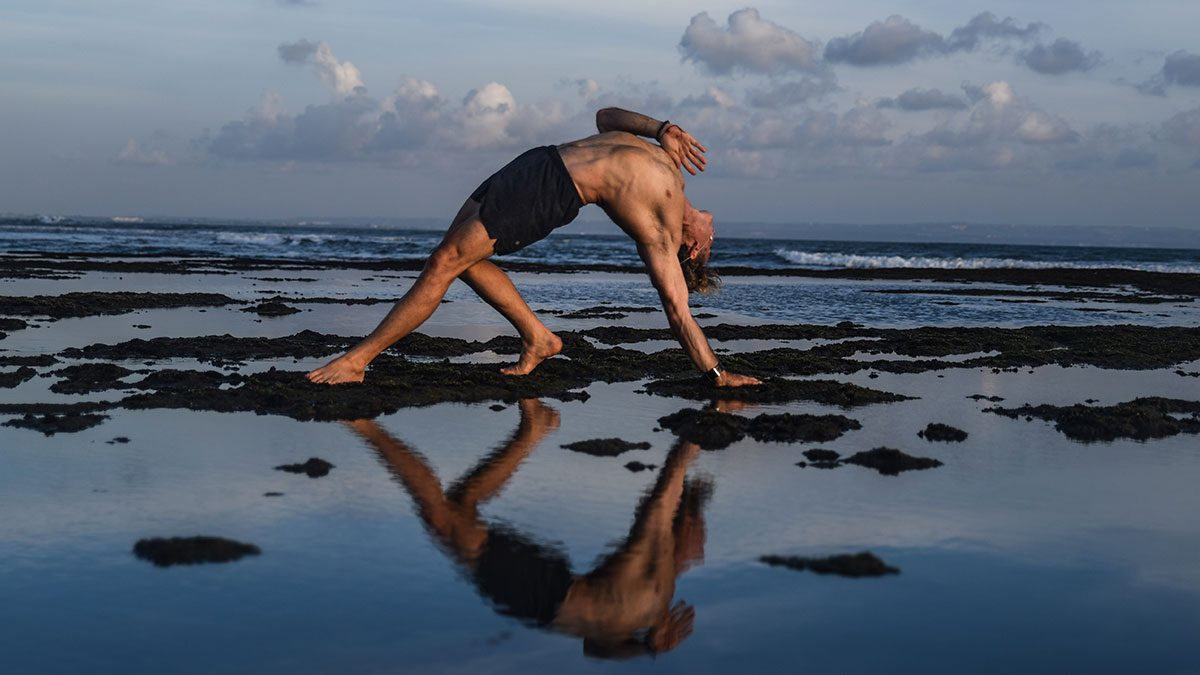 Yoga, breathe quickly