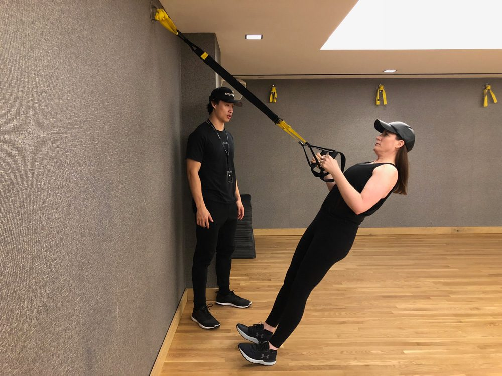 abs strength workouts TRX Rows