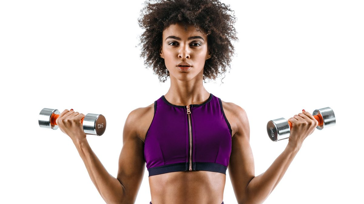 beauty gym kits, woman looking great after a workout