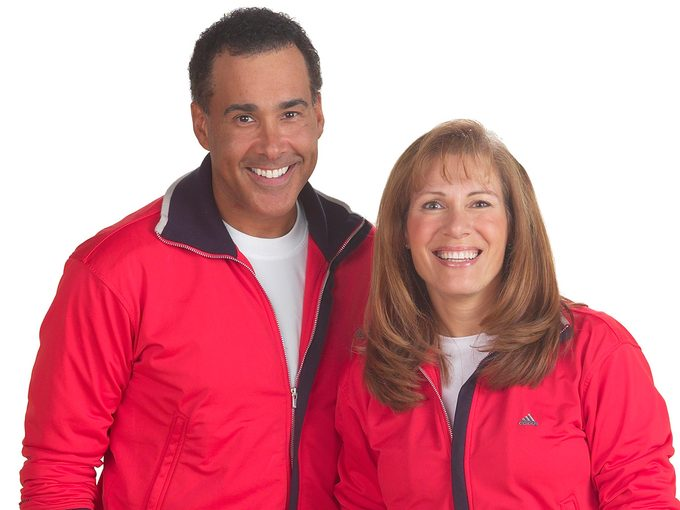 Body Break, Hal Johnson and Joanne McLeod in red tracksuits