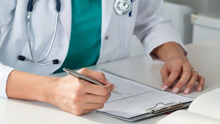 Borderline Diabetic, doctor writing