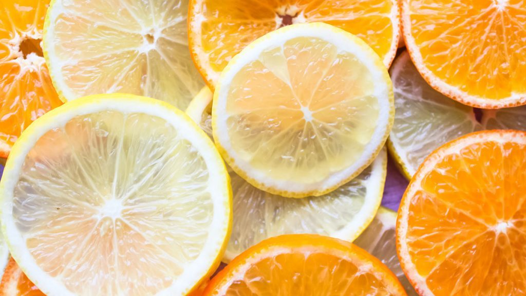 Fibre, orange and lemon