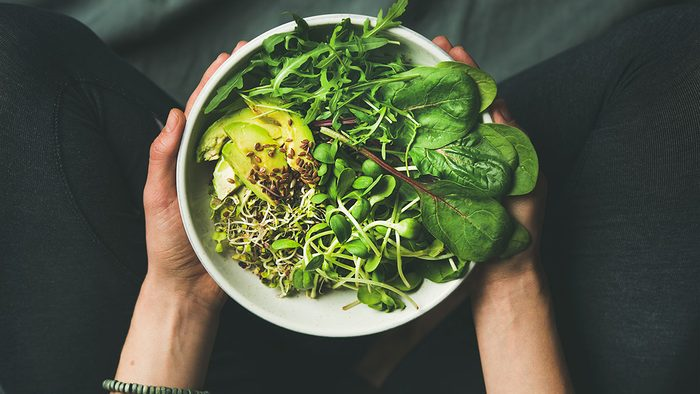 maintain a healthy weight   salad