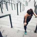 Gain Weight, woman on stairs outdoors