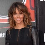 Halle Berry smiling on the red carpet