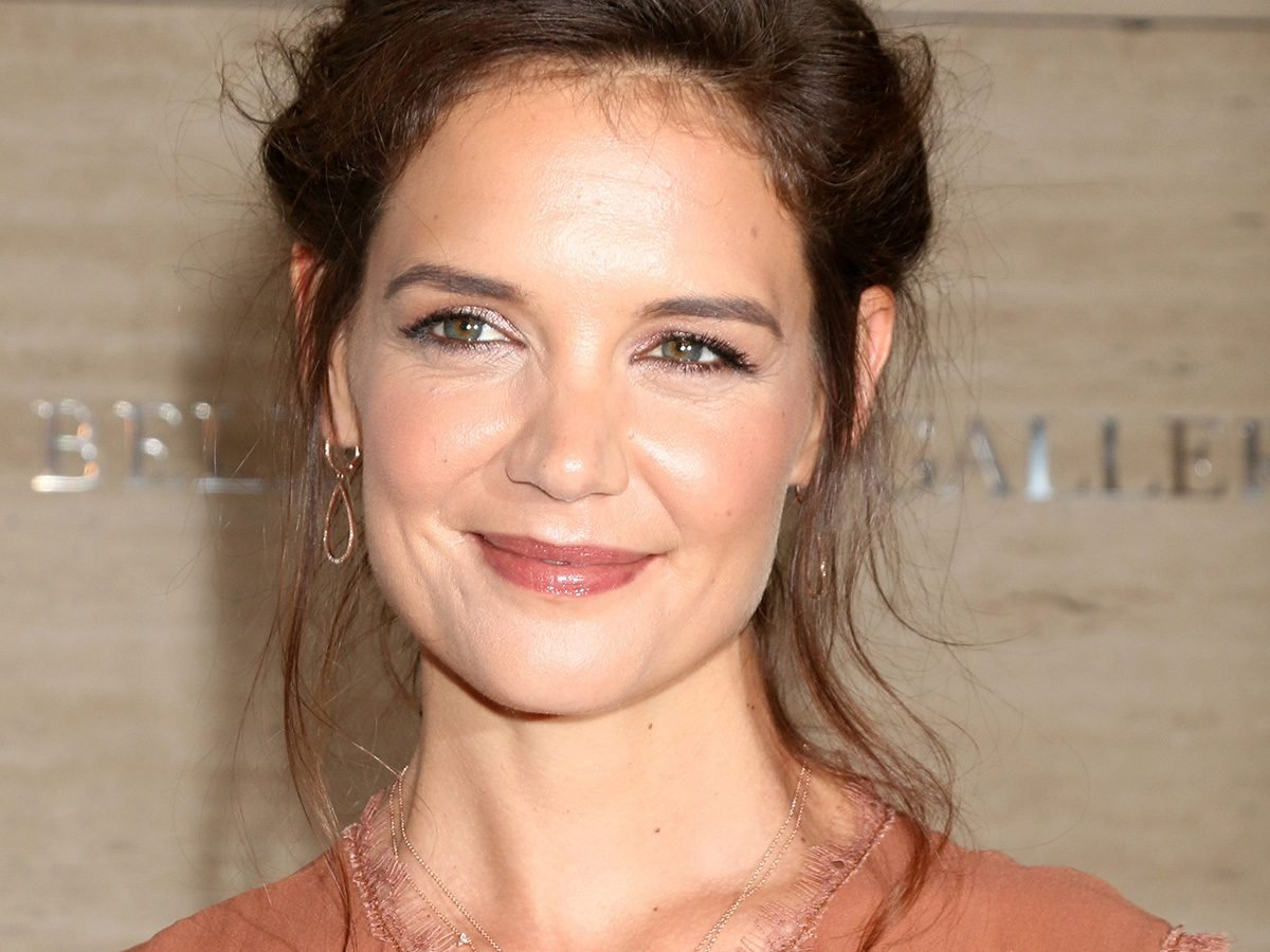 Katie Holmes smiles on the red carpet