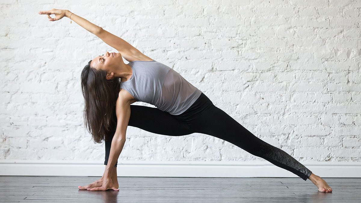 Yoga for Weight Loss, side angle