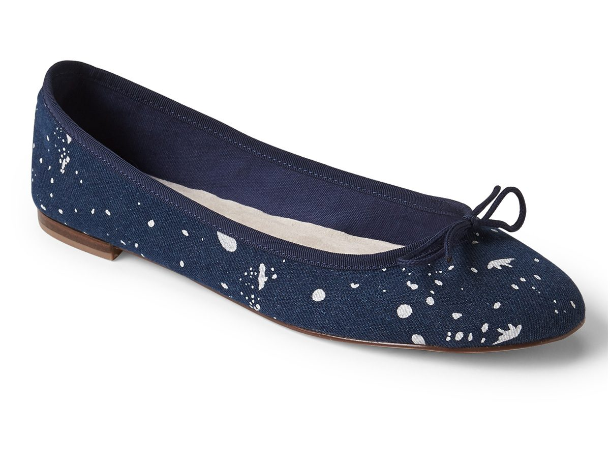 Spring shoes, navy Gap ballet flats
