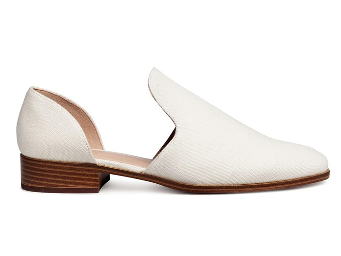 Spring shoes, white d'orsay flats from H&M