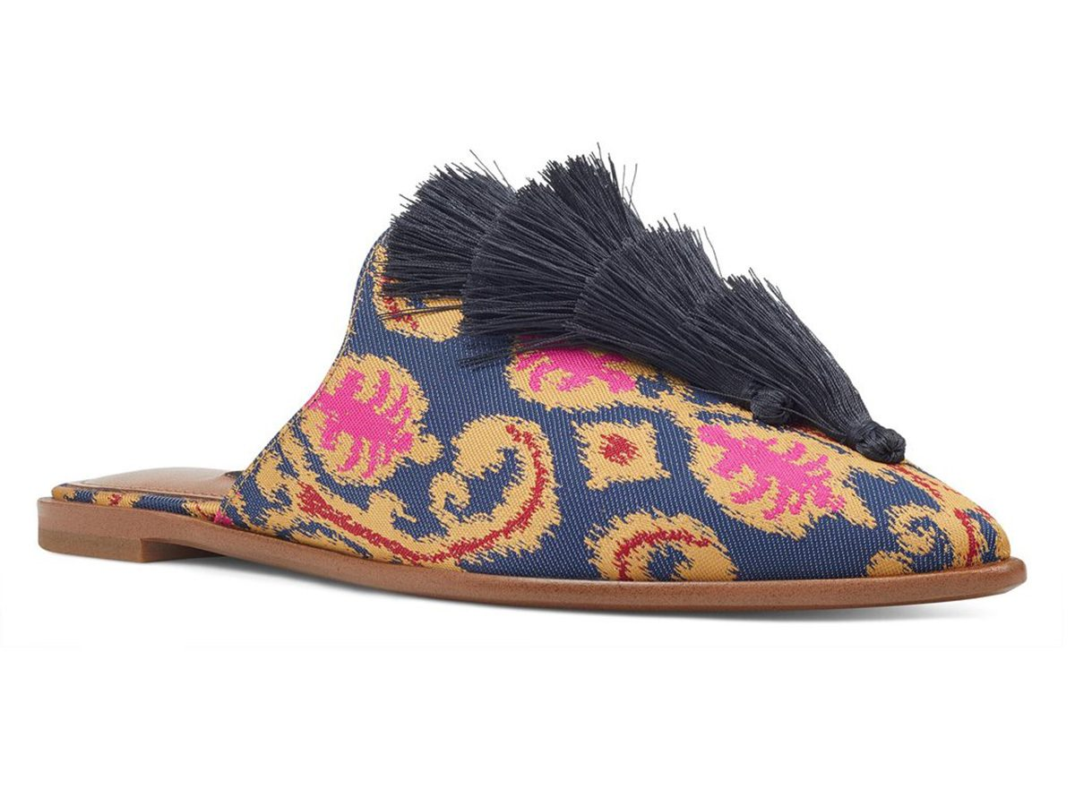 Spring shoes, Nine West printed mules