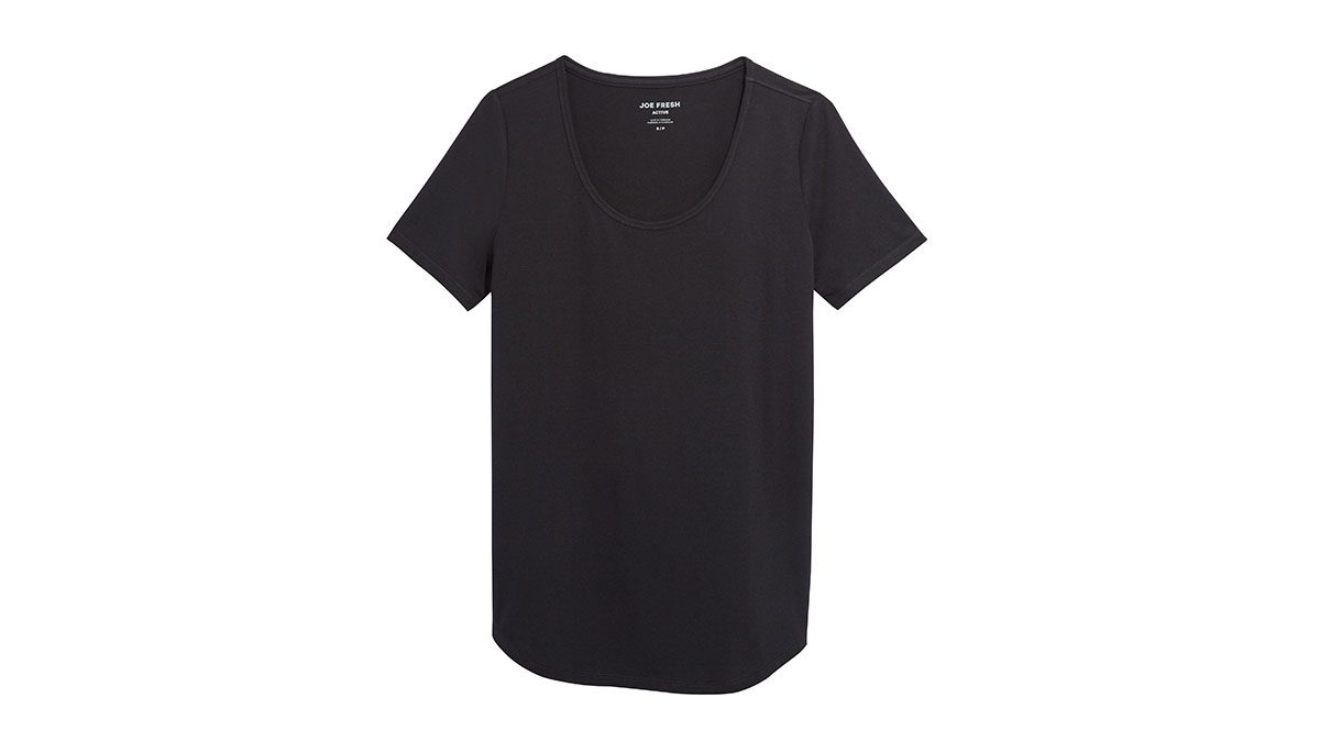 Yogalates, black shirt