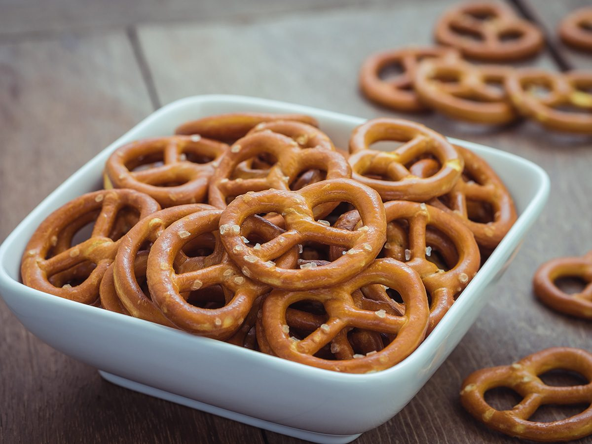 Extreme weight loss, bowl of pretzels