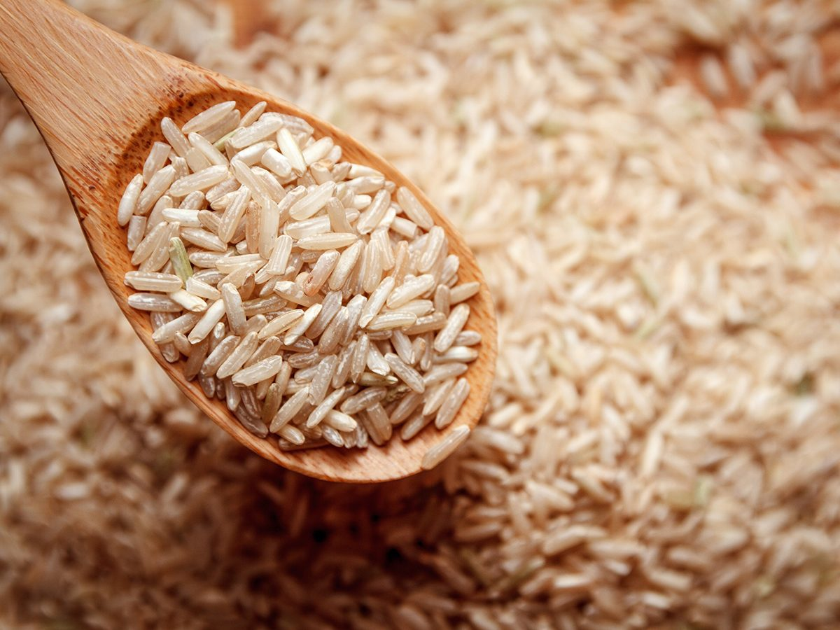 healthy foods, dry brown rice