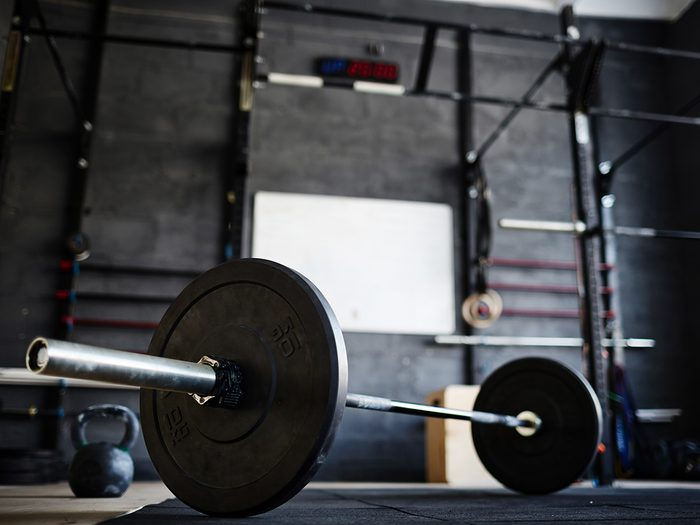 Self love, a barbell at a crossfit gym