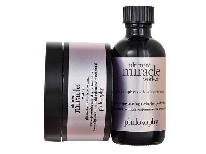 Skin care routine, Philosophy Ultimate Miracle Worker Multi-Rejuvenating Retinol + Superfood Oil and Pads