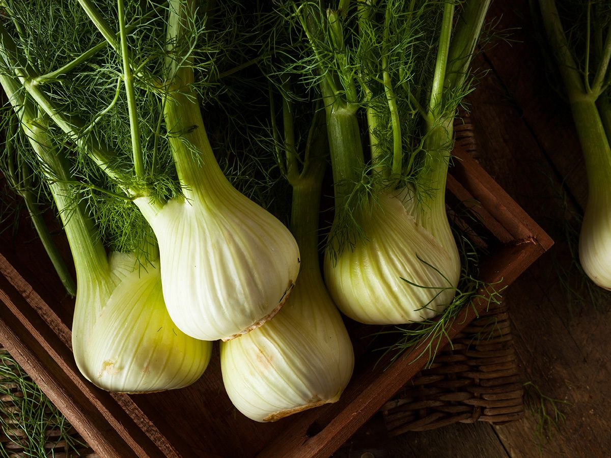 Superfoods, box of organic fennel