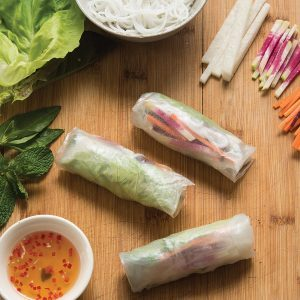 These Rainbow Rice Paper Rolls Will Impress Your Guests
