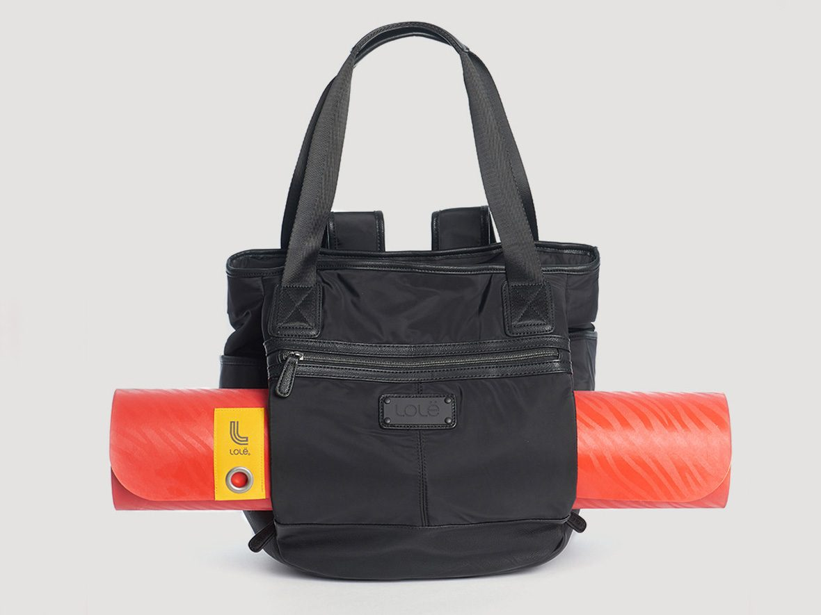 Workout gear, black Lole bag