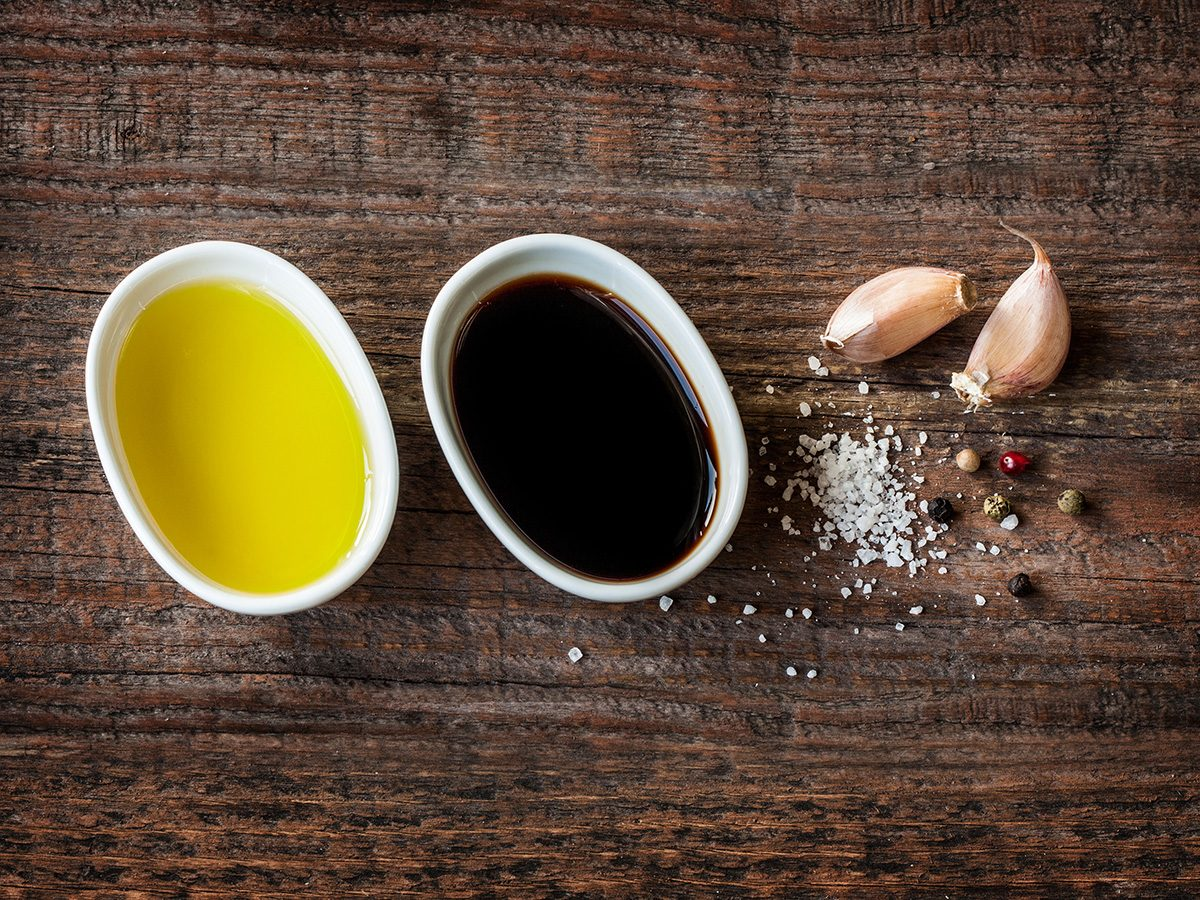 Zero calorie foods, fat-free salad dressing