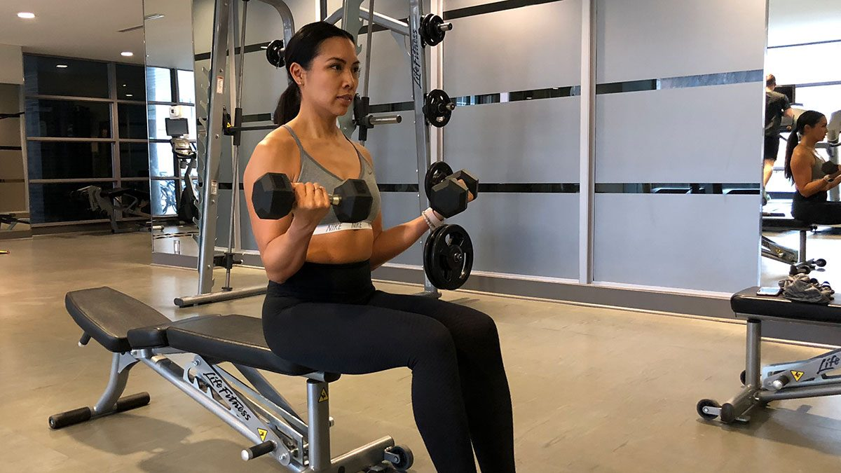 Arms Workout, Jennifer Lau
