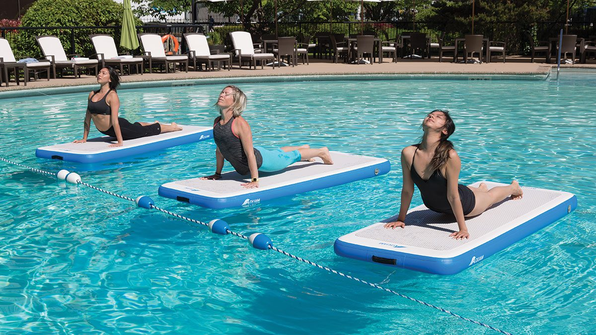 Best Fitness Studios, on water doing yoga