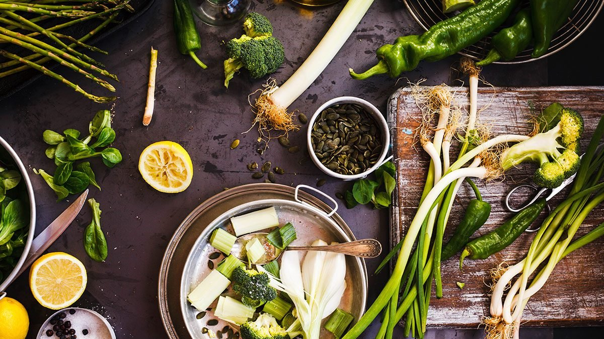 Detox, green vegetables