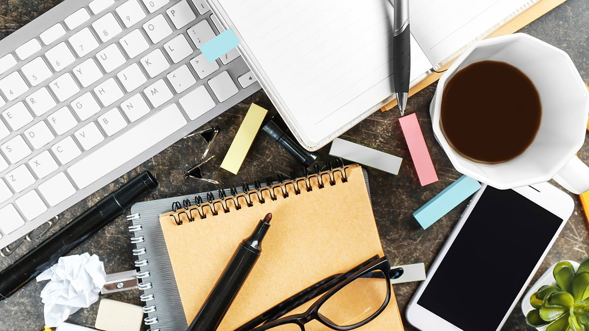 Energy, messy desk