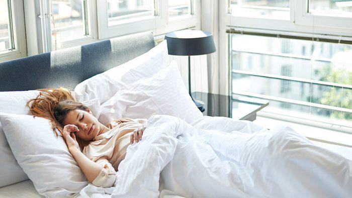 Energy, woman sleeping