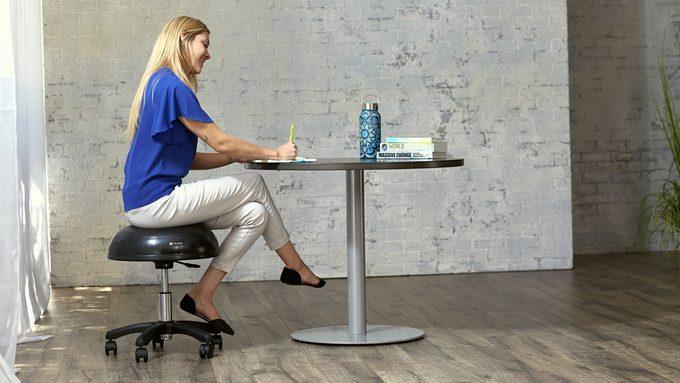Gaiam black stool