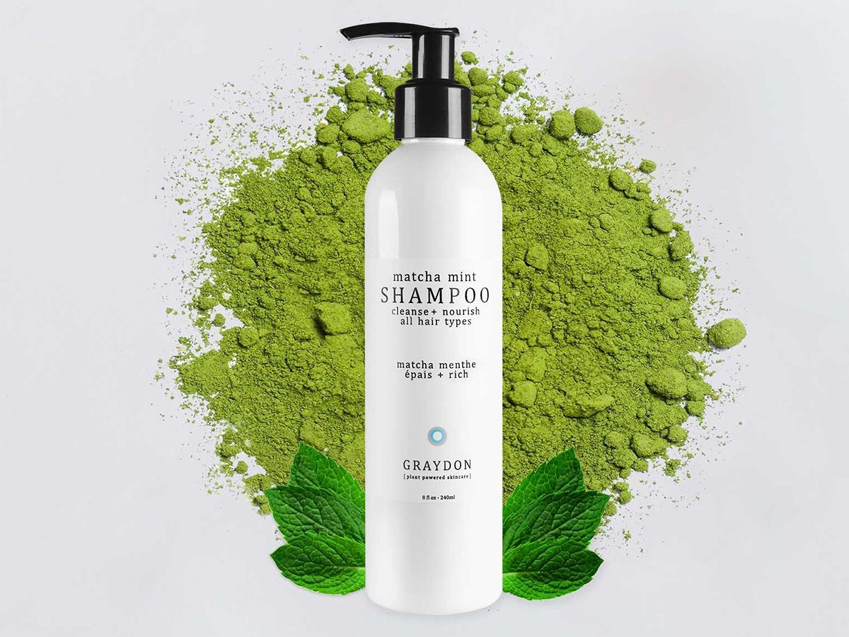 Earth Day Tips, Graydon Matcha Mint Shampoo