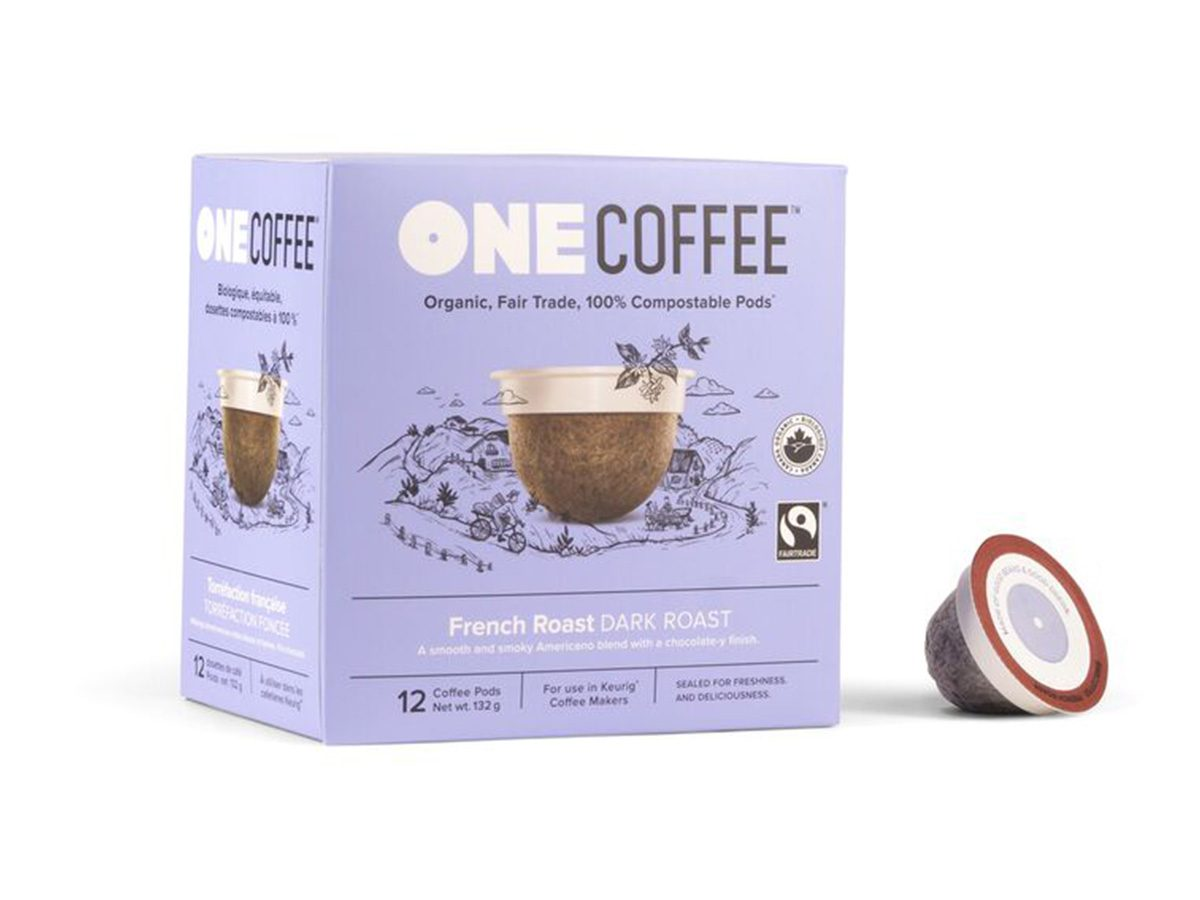 Earth Day tips, One Coffee French Roast pods