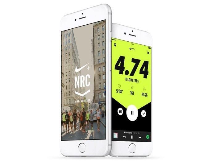 Nike Run Club app displayed on a phone