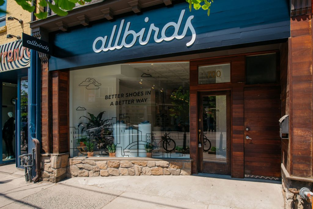 allbirds pop-up queen west