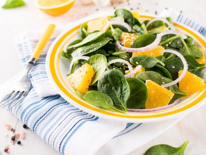 spinach salad with orange