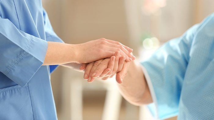 Breast Cancer Advancements, holding hands