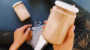 Post-Workout Treat: Chocolate Peanut Butter Smoothie