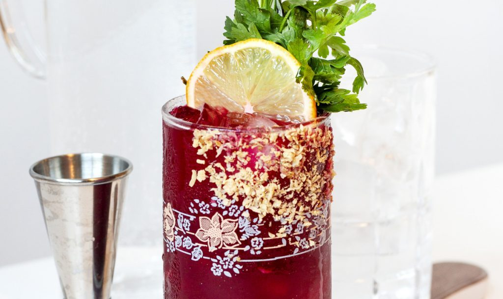 Beet Caesar cocktail recipe