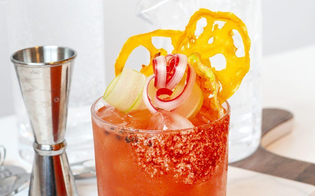 Strawberry-Rhubarb Caesar