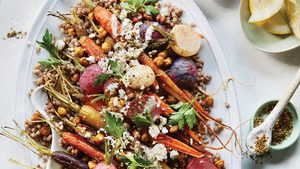 A Roasted Carrot, Radish & Crispy Chickpea Salad That's Party-Worthy