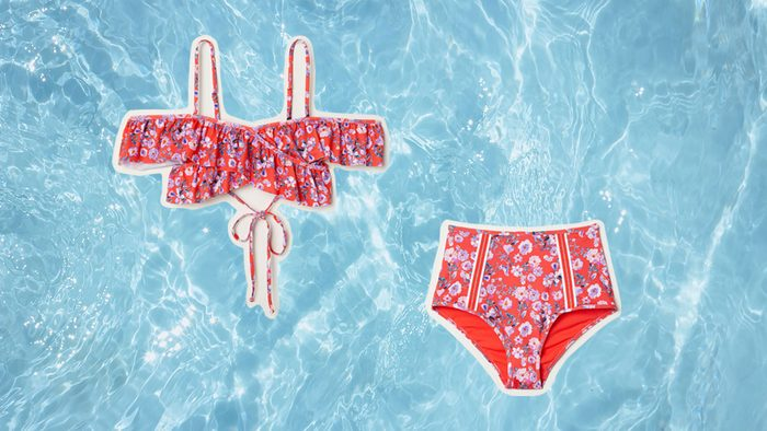 Swimwear for Body Shapes, flower bikini